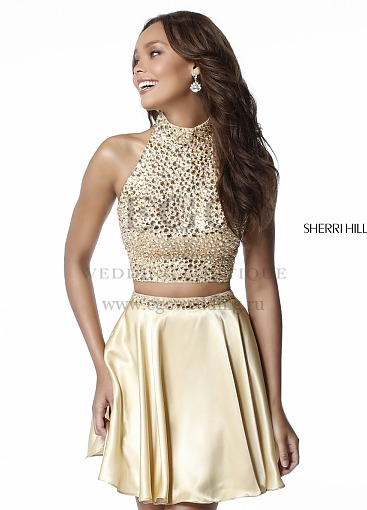 Sherri Hill 51540 gold